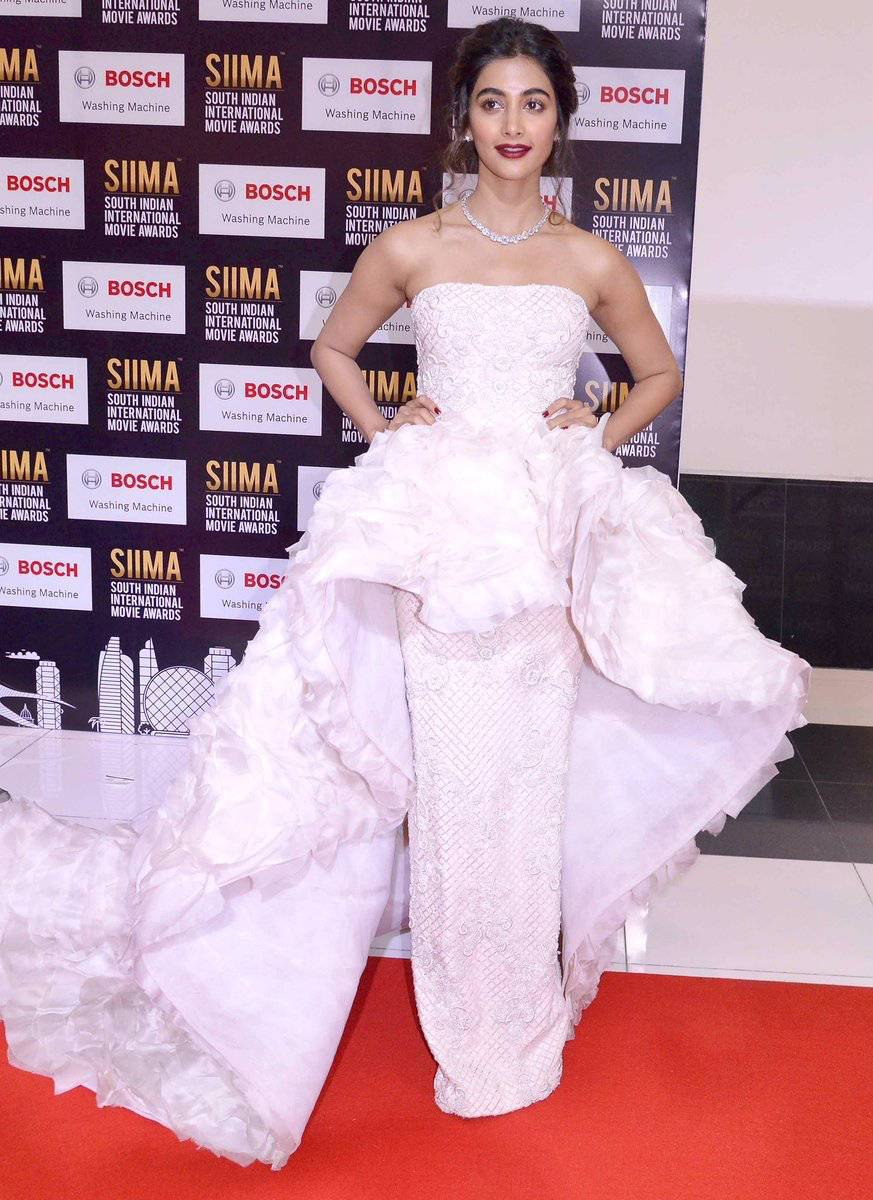 Actress Pooja Hegde Photos At SIIMA Awards 2017