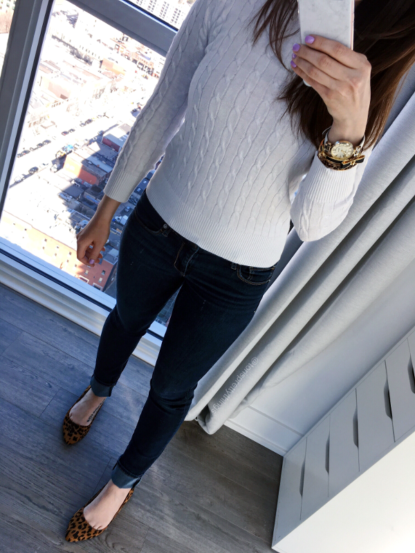 White Sweater Spring Outfit - Tori's Pretty Things Blog