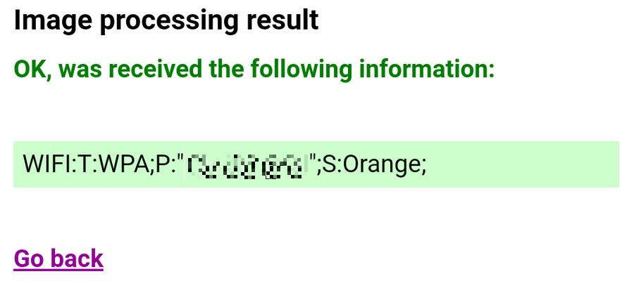 Code QR du mot de passe Wi-Fi décrypté