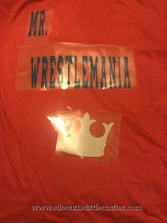 Wresting inspired iron shit - photo taken by Eileen the little crafter