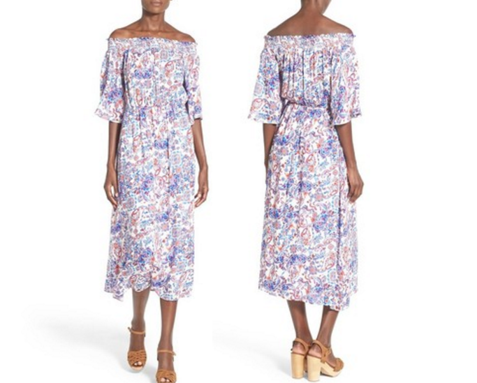 Everly Print Off the Shoulder Maxi Dress, Off shoulder dresses for Summer, Off shoulder dress, How to wear off shoulder dresses