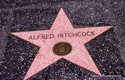 Alfred Hitchcock star on Hollywood Boulevard in Los Angeles