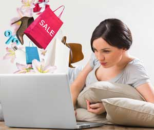 Woman Shopping With PayPal