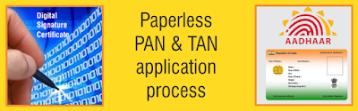 Apply Paperless Pan Card Online With Aadhar Card
