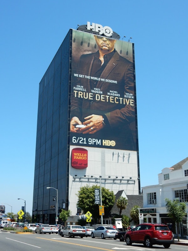 Giant Vince Vaughn True Detective season 2 billboard
