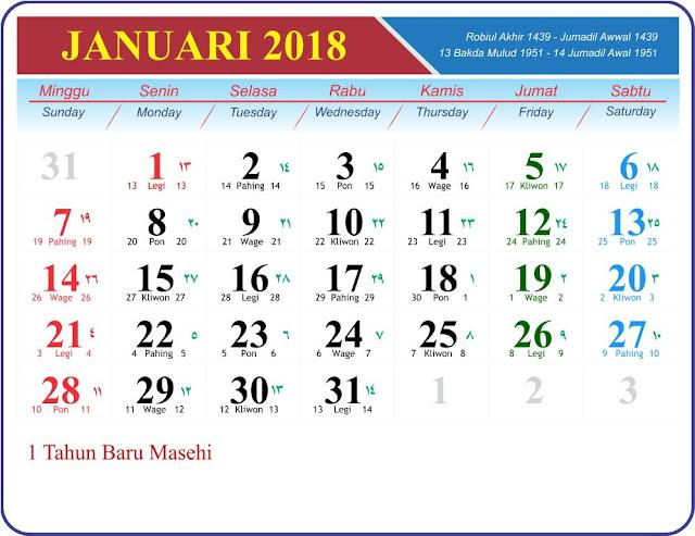 Template Kalender 2018 GRATIS untuk usaha percetakan anda !