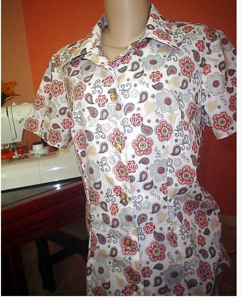 camisa feminina de algodão
