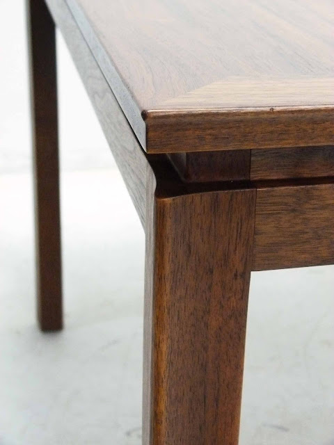 Edward J Wormley Modern Walnut Dining table by Dunbar Corner Detail