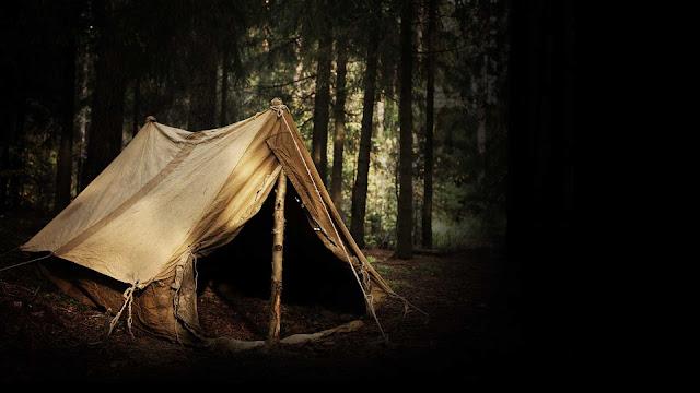 собранная палатка