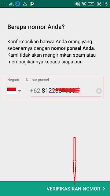 Cara Verifikasi nomor handphone di Aplikasi Mcent Browser