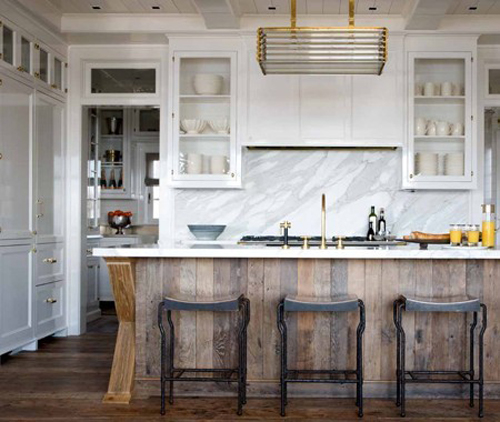 Kitchen Of The Week: Distressed Wood And Brass