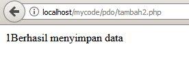 hasil eksekusi kode diatas di browser