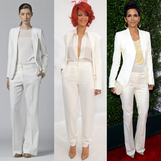 Womens White Dress Pants - Laura Williams