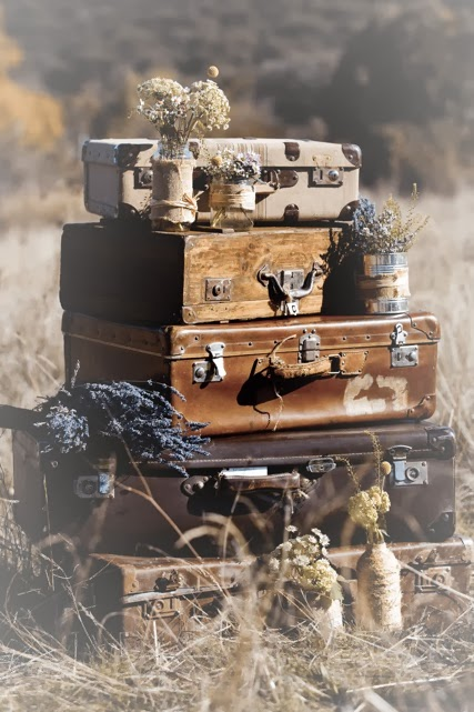 maletas antiguas para reportajes de fotos y cine