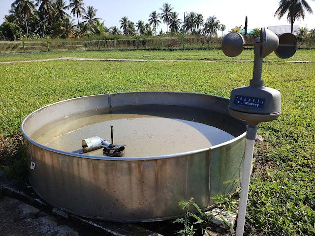 Panci Penguapan - alat ukur cuaca dan iklim