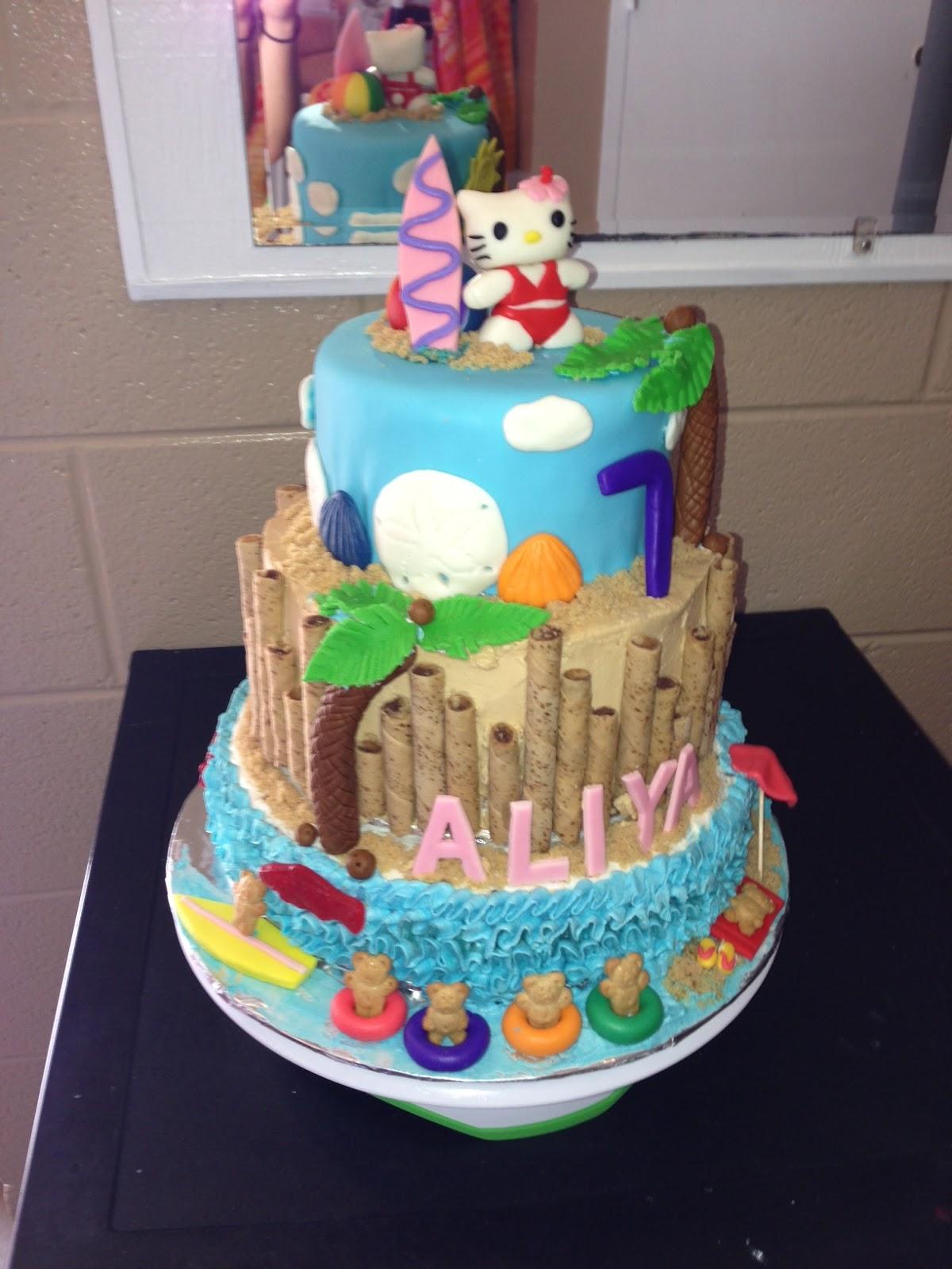 Joyce Gourmet Hello Kitty Luau Birthday Cake