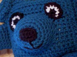 teal colored crochet amigurumi bear pattern