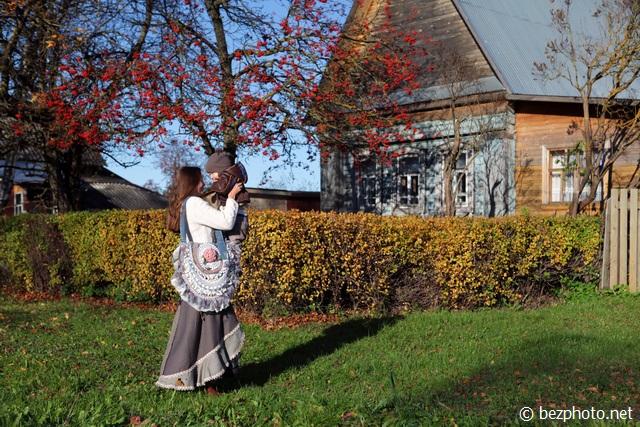 осень в деревне картинки