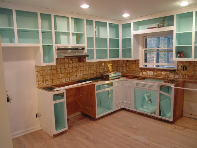 Kitchen Cabinet Inside Retro Ranch Reno: The Magic Of Paint