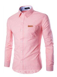 pink plain men's shirt