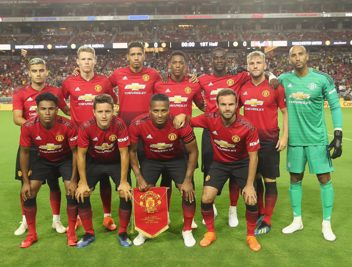 On Pitch Debut: Manchester United & Club America 18-19