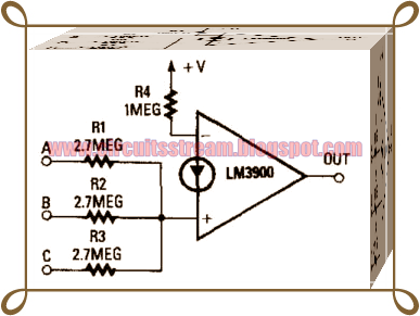 3 Input and Gate Comparator Circuit Diagram