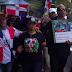 Cielo Garcia y grupos nacionalistas marchan en New York en protesta por crímenes realizadas por haitianos
