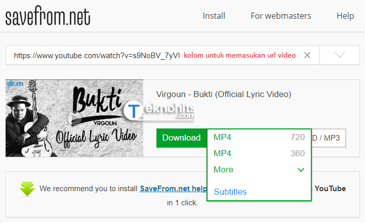 cara download video youtube lewat google chrome
