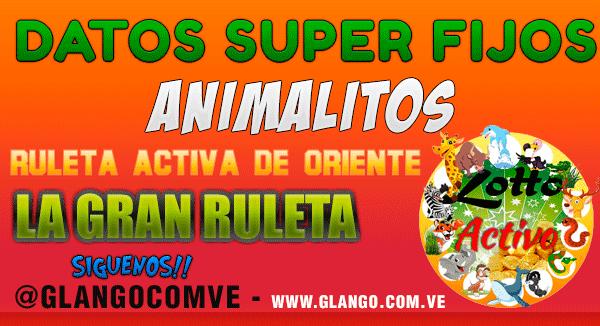 Datos Fijos para la #Lottoactivo #Ruletaactivaoriente #lagranruleta Hoy Lunes 03/07/17