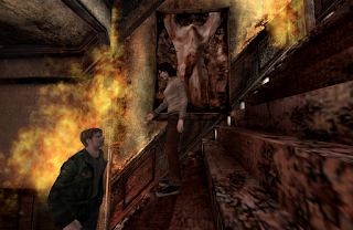 james and angela stairs silent hill 2