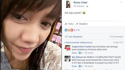 VIDEO DETIK DETIK RISKA CIBEL TEWAS NO SENSOR