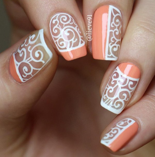 35 Half Moon Nail Art Designs - Art And Design Inspiration ...