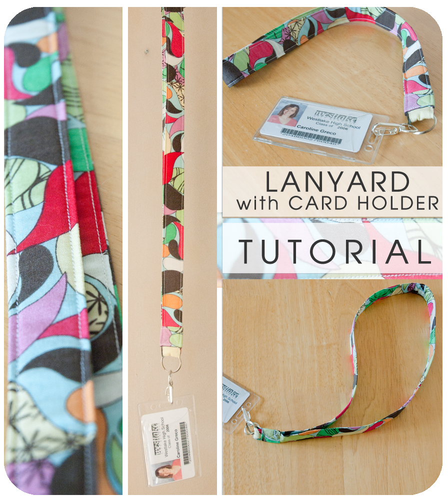 cold hands warm heart lanyard with card holder tutorial