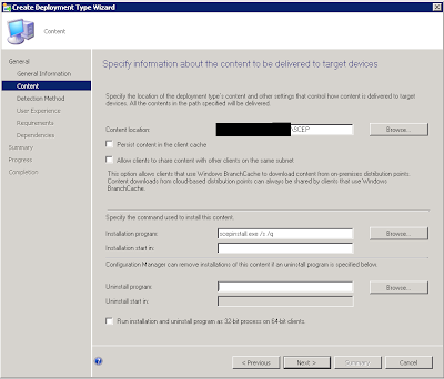 Install System Center Endpoint Protection (SCEP) using the SCCM Software Catalog 6