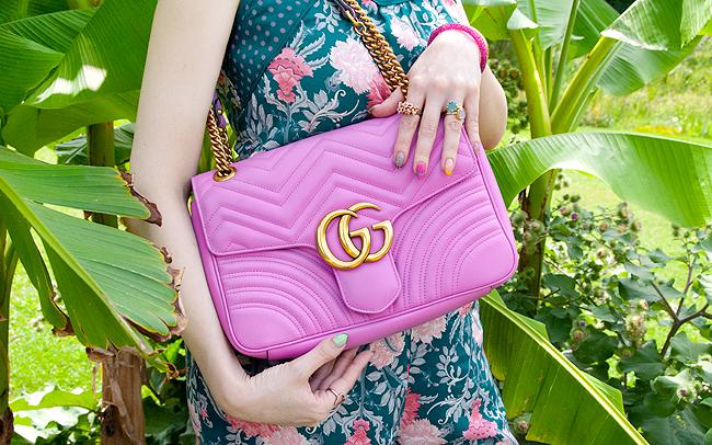 Gucci Marmont, handbag, lilac