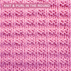 [Knit and Purl in the round] Ridge Rib stitch | Easy