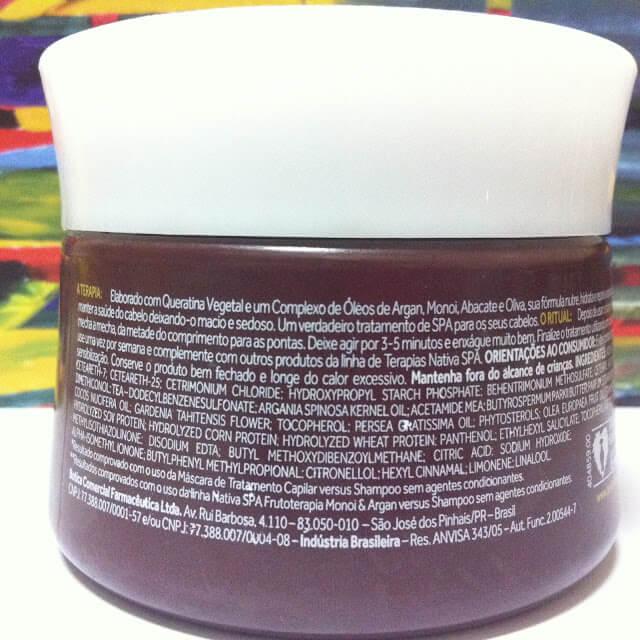 Resenha: Máscara Capilar Ultra-Hidratante Monoi & Argan Nativa SPA – O Boticário
