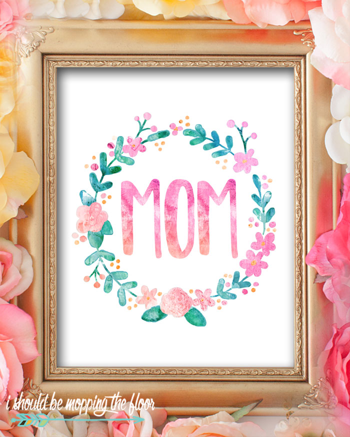 These Eight Watercolor Mother's Day Printables are perfect for gifting or decorating. Gorgeous 8x10 prints sure to bring a smile to any mom's face!