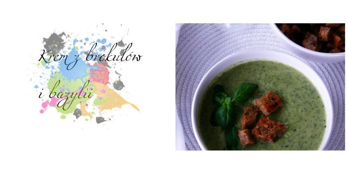 Krem z brokułów i bazylii