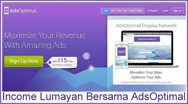 Iklan AdsOptimal - Alternatif Adsense