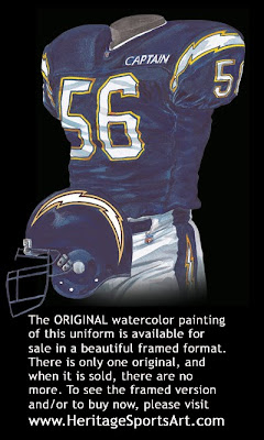 San Diego Chargers 1992 uniform