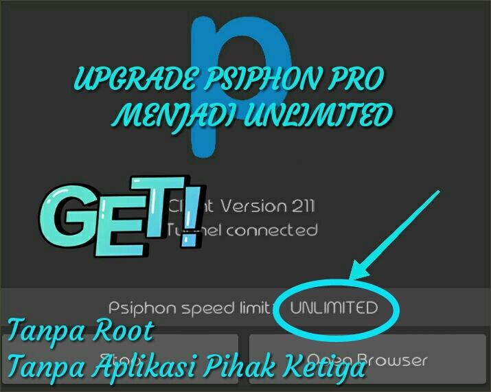 Cara Upgrade Psiphon Pro Menjadi Unlimited Speed Gratis Tanpa Root