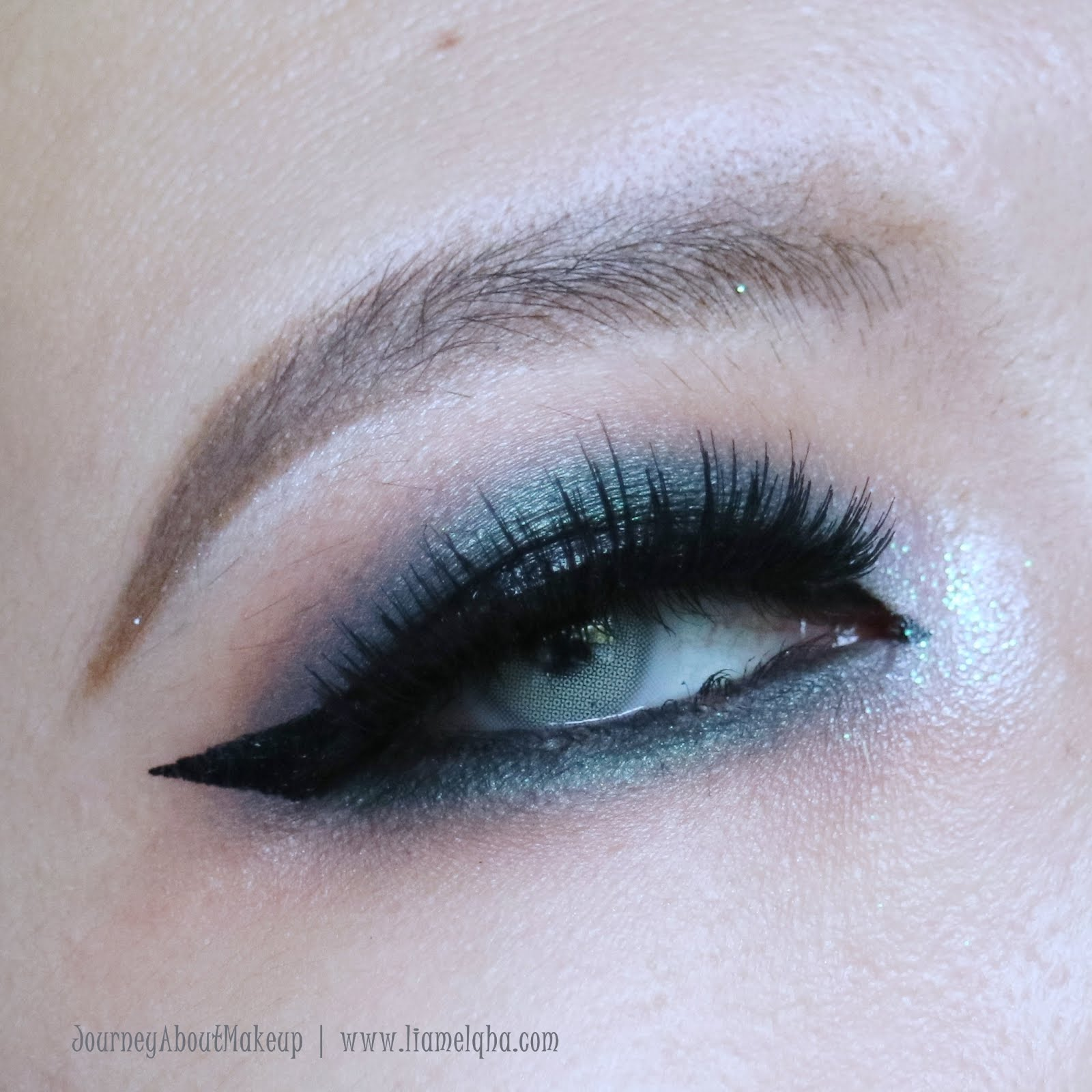 Tutorial: Deep Blue Smokey Eyes for Monolid || Liamelqha