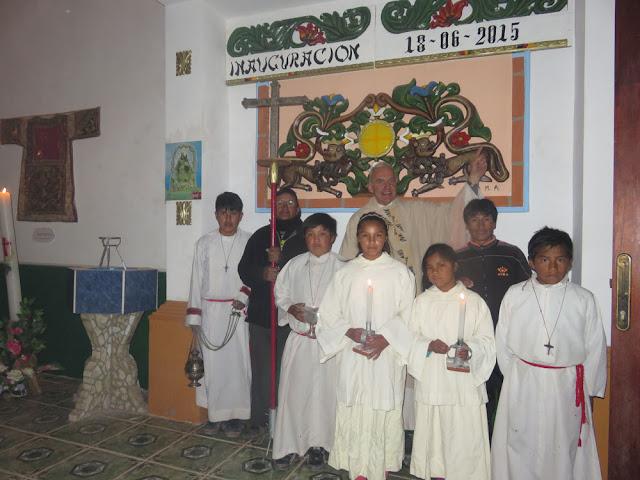 Gottesdienstbeginn am vergangenen Sonntag an Kirchweih. Ein weltliches Fest gab es aber nicht. Bei uns wird ja schon genug gebechert.