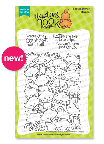Company of Cats | Cat Crowd Stamp Set and die set by Newton's Nook Designs #newtonsnook