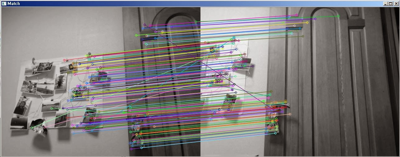 MARE's Computer Vision Study : Two view of cam to one screen