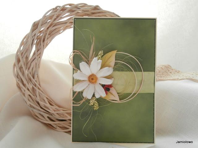 skromna kartka z kwiatem