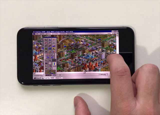 windows-95-simcity-2000-iphone-x