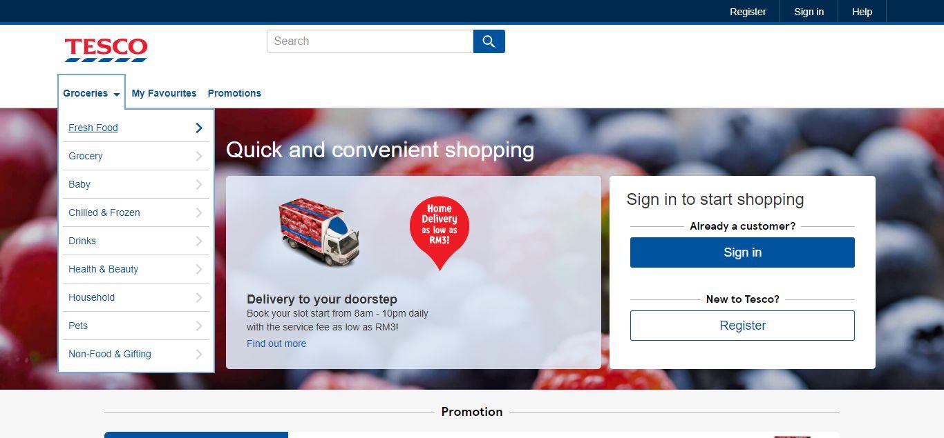Tesco e-commerce