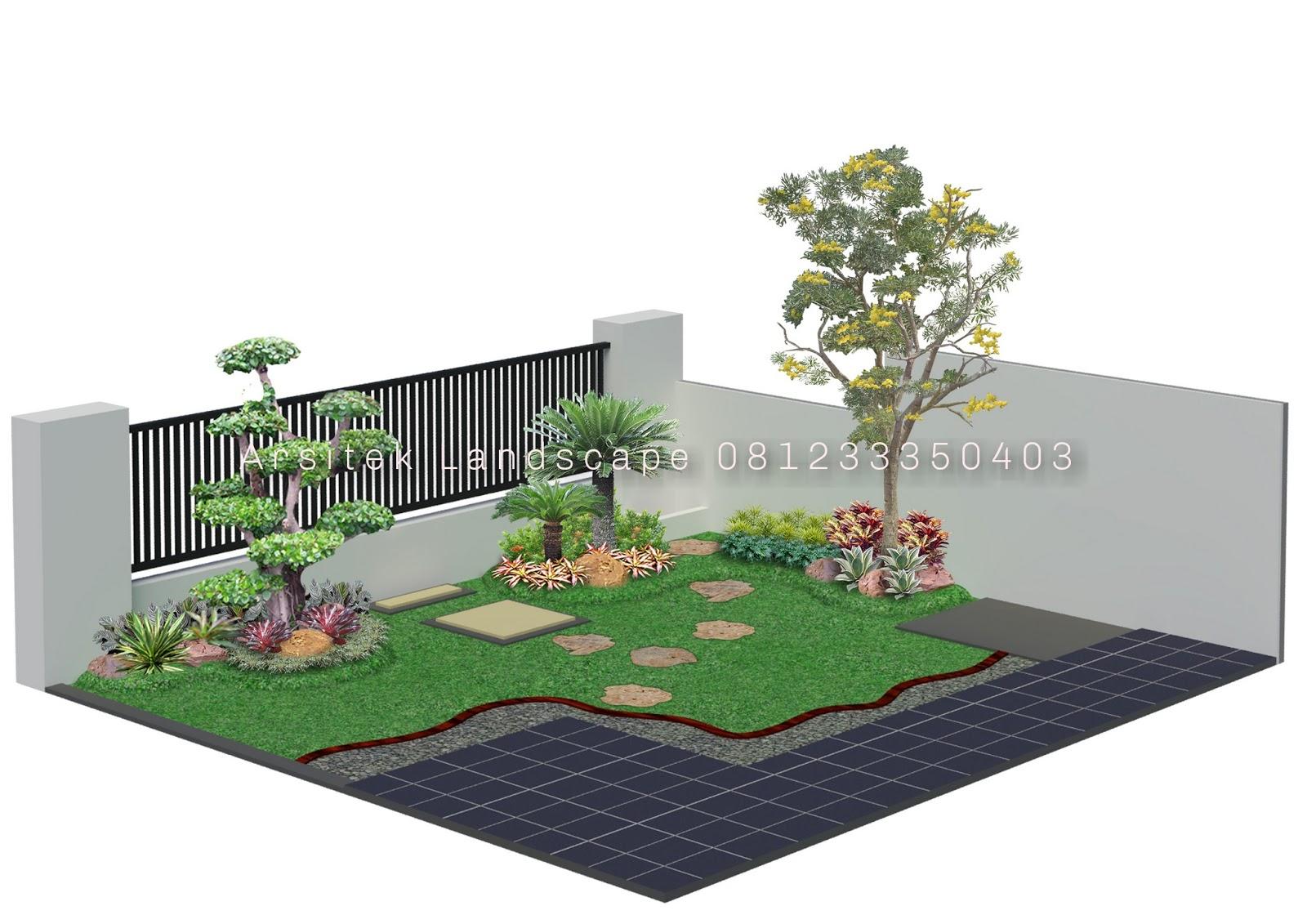 Sketsa Desain Taman 3D - Jasa Pembuatan Taman